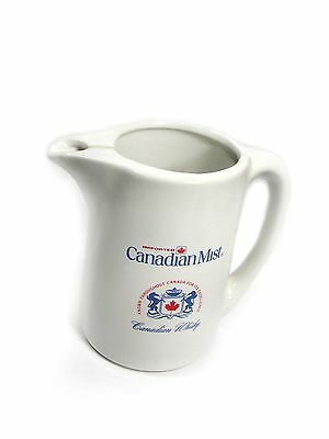 Great Old  Quart CANADIAN MIST WATER PITCHER w/Logos on Both Sides
