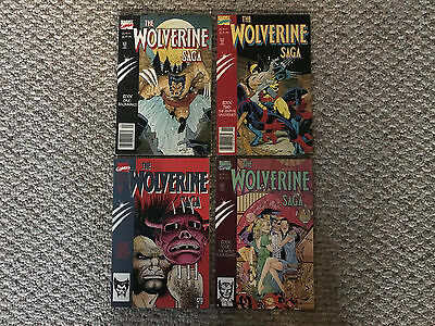 The Wolverine Saga 1,2,3,4 Complete Very Nice Condition Marvel Comics