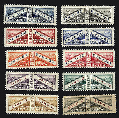 San Marino 1928 Parcel Post Stamps , Pacchi Postali , Mint Hinged