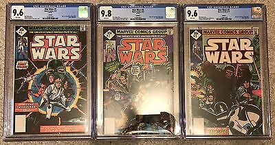 Star Wars #1, 2, 3 CGC 9.6 & 9.8 NM/MT WHITE Pages New Slab RARE 1977 Reprint