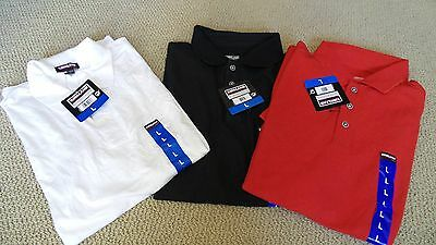 NEW 3 Kirkland Signature Men's Short Sleeve Performance Pique Polo Shirt LARGE