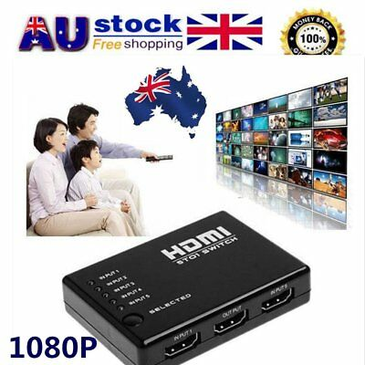 5 In 1 1080P1.4 Version HDMI Switch Switcher HD Video Support HDMI Splitter A
