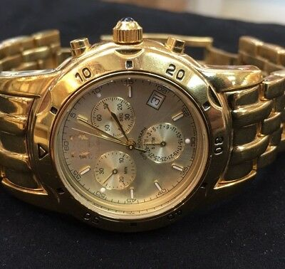 Aston Gerard Gold Plated Chronograph Watch