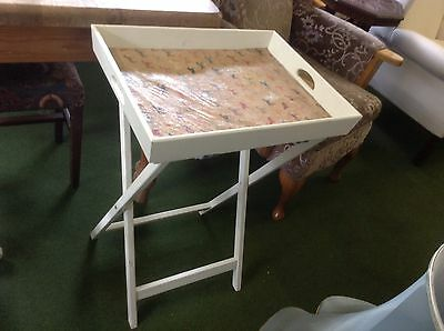 Butlers Tray  With Stand Shabby Chic Horse Print