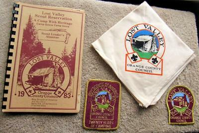 Vintage Lot of Four (4) Boy Scout- Mixed Lot of 4 Lost Valley Scout Reservation