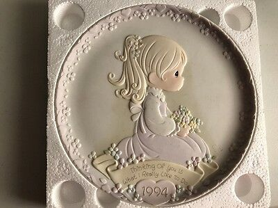"Precious Moments 531766 ""Thinking of you is what I really like to do plate"" 1994"