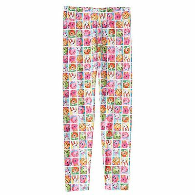 Shopkins Girls' Poppy Corn Donut Cookie Leggings Stretchy Pants Girl Size 8 NEW