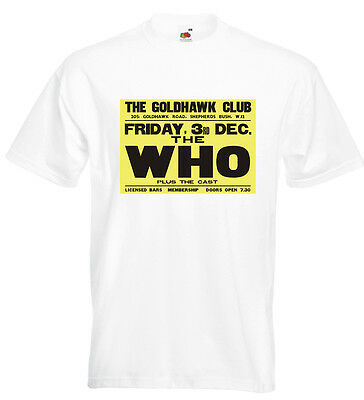 The Who Concert Poster T Shirt Goldhawk Club Pete Townshend Roger Daltrey