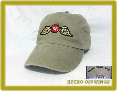 ARMY Airborne Special Forces OPERATIONS GREEN BERET OPS RETRO OSS WINGS CAP HAT