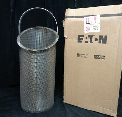 "EATON  316ss STRAINER BASKET (NEW) PN: 8181510240 16"" #510/#5 20/#570  1/8"" PERF"