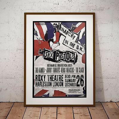 Sex Pistols 1976 First UK Tour Concert Poster 3 Print Options NEW 2017 EXCLUSIVE