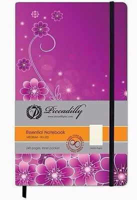 Piccadilly Essential Notebook Medium - Ruled 240 Pages w/ Inner Pocket