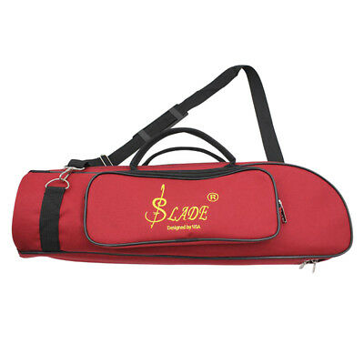 Trumpet Carrying Case Oxford Cloth Padded Strap Bag Red Instrument Accessory