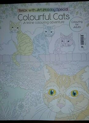 Relax with  Art Colouring  Book  - Colourful Cats