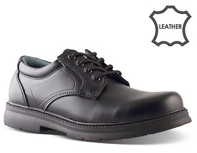 Mens Leather Shoes Smart Casual Comfort Lace Up Work Office Formal Shoes Sizes