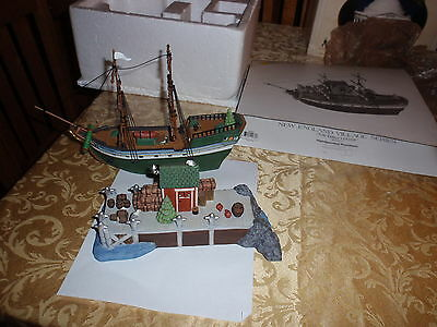"Dept 56 New England Village Series ""The Emily Louise"" Retired,  Set of 2, LOOK!"