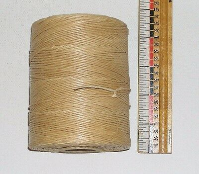 Victor waxed LINEN lacing 9 cord rug braiding weaving 9-ply flax twine - TAN