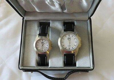 World Poker Tour Official His/Hers Watch Quartz Working Set /Gift Case (New)