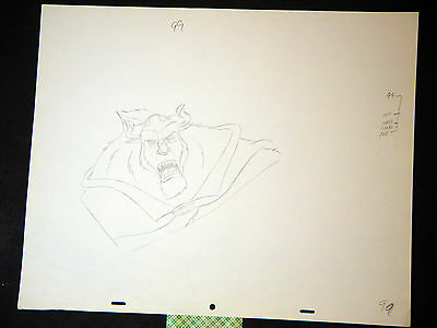 Beauty and the Beast (1991) Original Disney Animation drawing of the Beast (99)