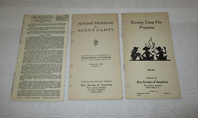 Vintage Boy Scout Booklets Mixed Lot Of 3 Lot#blue-100