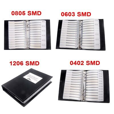 0805/ 0603/ 0402/1206 SMD Resistor & Capacitor Sample Book Combo Assortment Kit