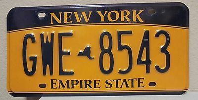 2012 New York  Empire State Gold License Plate Gwe 8543 Used