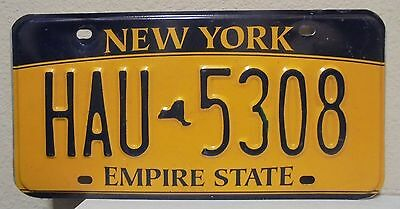 2012 New York  Empire State Gold License Plate Hau 5308 Used