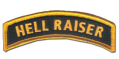 Wax Backed - US Ranger Colors - HELL RAISER Tab - US Special Forces, US Infantry