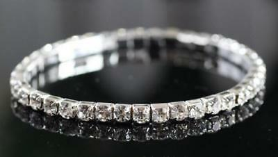 Women Jewelry Crystal Rhinestone Love Bling Glitter Bracelet Bangle Lucky Gift