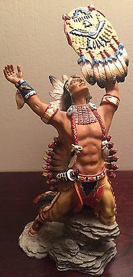 Hamilton Collection SHIELD OF COURAGE Indian Figurine 1998