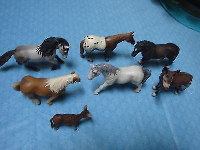 5 Schleich Horses Donkey And Maybe A Mule