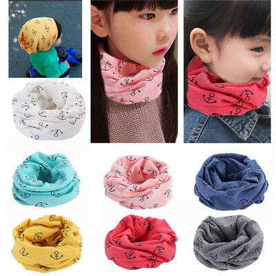 Toddler Kids Cotton Warmer Neck Round Scarf Wrap Baby Boy Girl Cute Shawls Snood