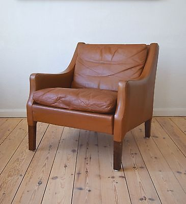 Danish Mid-Century Rud Thygesen Leather Lounge Chair, 1960s