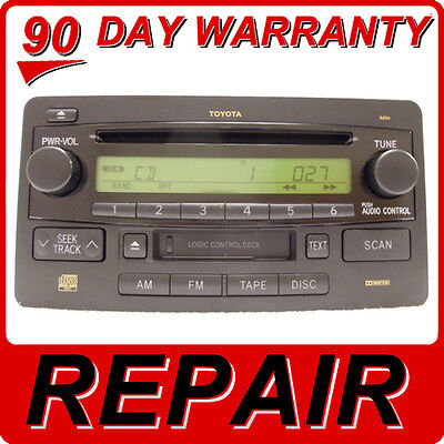 REPAIR SERVICE ONLY - TOYOTA Sequoia Tundra JBL Radio 6 Disc ... on