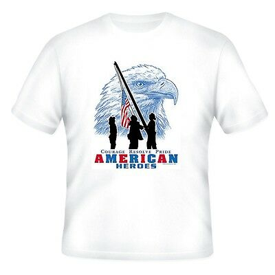Fire Ems Police T-shirt Courage Resolve Pride American Heroes Firefighter Men