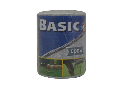 Corral Basic Fencing Polywire 500M White Livestock Equine Fencing Horse Cattle