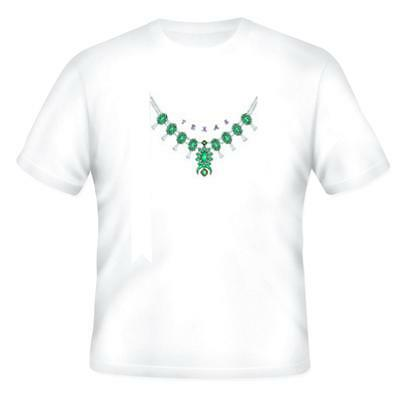 State City T-shirt Texas Necklace Style