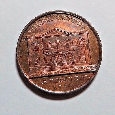 Choice - Red & Brown Unc - Warwickshire  Conder Token -  Dh- 162  - No Reserve