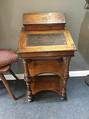 Antique Davenport Victorian Leather rosewood Desk Period Country Furniture
