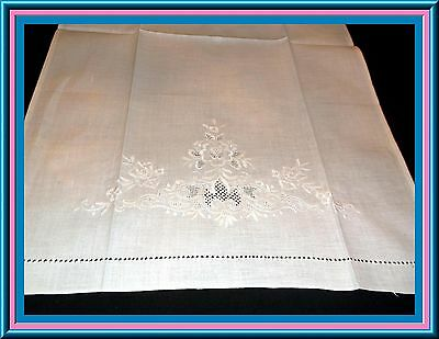 Exquisite Antique Whitework Linen Towel With Amazing Design And Condition