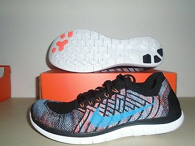 New Nike Free 4.0 Flyknit Black Multi Color Running Shoes sz 12