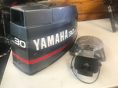 1993 Yamaha 30 HP 2 Stroke Outboard Engine Top Cowl Cover Hood Freshwater MN