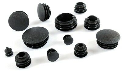 Round ribbed half dome blanking plastic insert plugs end caps made in Germany.
