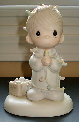 Precious Moments May Your Christmas Be Delightful 1985 olive branch symbol