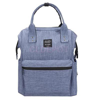 Waterproof Baby Mom Dad Diaper Nappy Changing Bag Shoulder Outing Backpack Blue