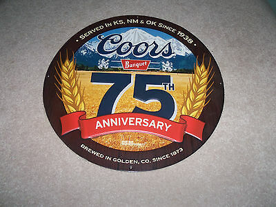 18'' Coors Banquet 75Th Anniversary Metal Sign - New Condition