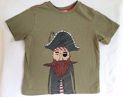 HANNA ANDERSSON Boy's Green Short Sleeved Shirt w/Pirate Graphic Size 110 5