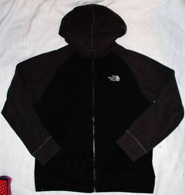 North Face Boy's Black Gray Fleece Light Jacket Coat Large L 14 16