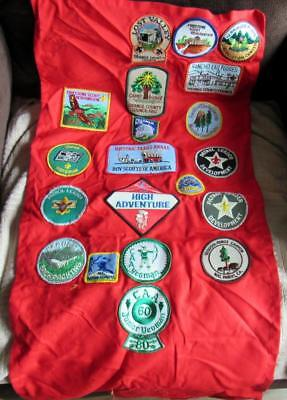 Vintage Boy Scout Patch Display Banner W/20 Patches