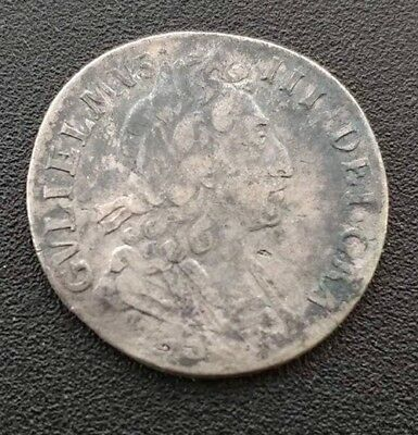 169x Great Britain William III Sterling Silver Sixpence. Very Fine.